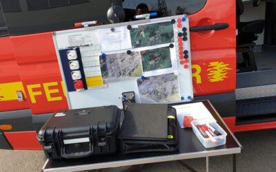 gemeinsame Übung der Drohneneinheiten der Feuerwehr Ramstein-Miesenbach und unserer Freiwillige Feuerwehr Bruchmühlbach-Miesau
